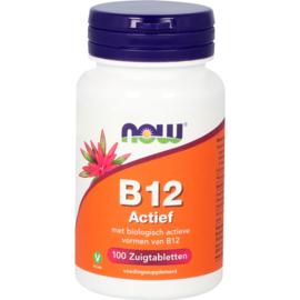 NOW vitamine B12 Actief 100 zuigtabletten