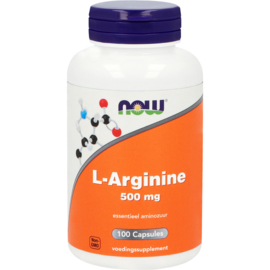 NOW L-Arginine 500 mg 100 Softgels