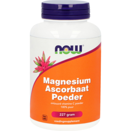 NOW Vitamine C Poeder Magnesium Ascorbaat 227 Gram