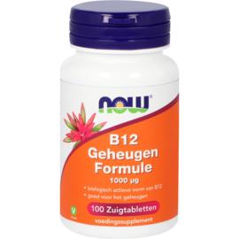 NOW vitamine B12 Geheugen Formule 1000 mcg 100 zuigtabletten