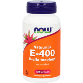 NOW vitamine E-400 D-alfa tocoferyl 100 Softgels