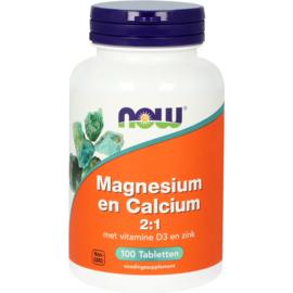 NOW Magnesium en Calcium 2:1 100 Tabletten