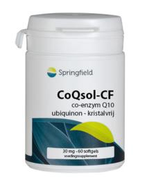 Springfield CoQsol-CF co-enzym Q10 (ubiquinon) met vitamine E 60 softgels