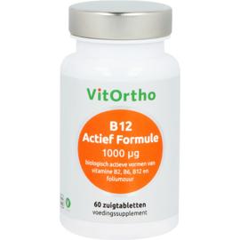 Vitortho B12 Actief Formule 1000 mcg 60 zuigtabletten