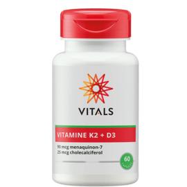 Vitals VITAMINE K2 + D3 60 CAPSULES