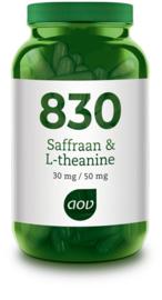 AOV 830 Saffraan & L-theanine 30 vcaps