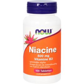 NOW Niacine 500 mg vitamine B3 geleidelijke afgifte 100 Tabletten