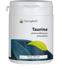 Springfield Taurine gesynthetiseerd uit cysteïne en methionine 150 capsules/250 gram