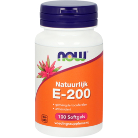 NOW vitamine E-200 gemengde tocoferolen 100 Softgels