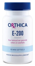 Orthica Vitamine E 200 90 softgels