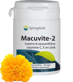 Springfield Macuvite-2 luteïne, zeaxanthine, vitamine C, E & zink 30/150 Tabletten