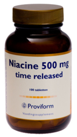 Proviform Vitamine B3 Niacine 500 mg Time Released