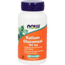 NOW Kalium Gluconaat 100 mg 100 Tabletten