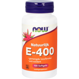 NOW vitamine E-400 gemengde tocoferolen 100 Softgels