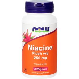 NOW Niacine Flush vrij 250 mg 90 vcaps