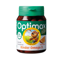 Optimax Kinder Omega 3 DHA+EPA - sinaasappel