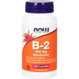NOW vitamine B2 100 mg 100 Capsules