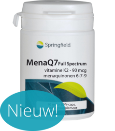 Springfield MenaQ7 Full Spectrum vitamine K2 60 vcaps