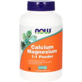 Now Calcium Magnesium 1:1 Poeder 227 Gram