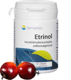 Springfield Etrinol tocotriënolen-complex uit rode palmolie 60 Softgels