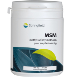 Springfield MSM methylsulfonylmethaan 1000 mcg 120 Tabletten