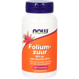 NOW Foliumzuur 800 µg 250 Tabletten