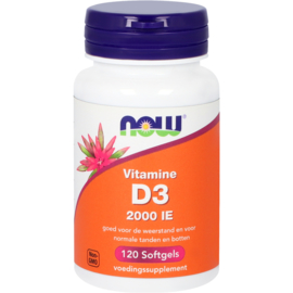 Now Vitamine D3 2000 IE 120/240 Softgels