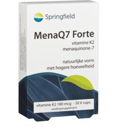 Springfield MenaQ7 Forte vitamine K2 menaquinone-7 180 mcg 30/60 vcaps