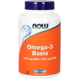 NOW Omega-3 Basis 180 mg EPA 120 mg DHA 100/200 Softgels