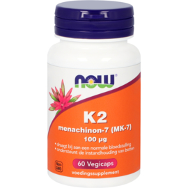 NOW K2 Menachinon-7 (MK-7) 100 mcg 60 vcaps
