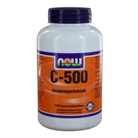 NOW vitamine C 500 Kauwtabletten Sinaasappelsmaak