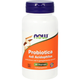 NOW Probiotica 4×6 Acidophilus 60 vcaps