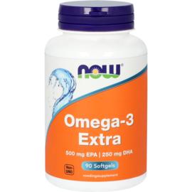 NOW Omega-3 Extra 500 mg EPA 250 mg DHA 90 Softgels
