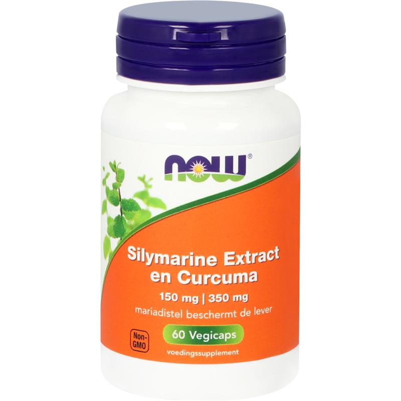 NOW Silymarine Extract 150 mg en Curcuma 350 mg 60 vcaps