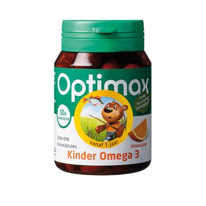 Optimax Kinder Omega 3 DHA+EPA - sinaasappel