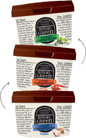 Frenchtop Royal Green Kokos Cooking Cream Garlic