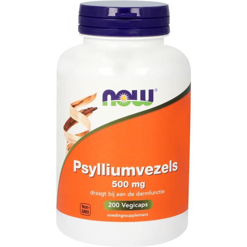 NOW Psylliumvezels 500 mg 200 vcaps