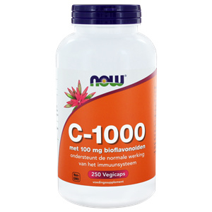 NOW vitamine C 1000 Caps met 100 mg Bioflavonoïden