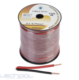 KAB0383 Speaker Cable 0.75mm zwart-rood