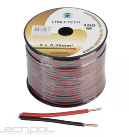 KAB0381 Speaker Cable 0.35mm zwart-rood