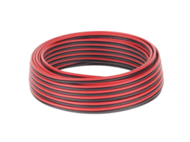 KAB0418 Speaker Cable CCA 0.75mm zwart-rood 25M
