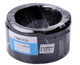KAB0031 Coax kabel RG174 50 Ohm 100m zwart