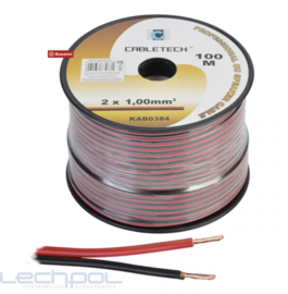 KAB0384 Speaker Cable 1.0mm zwart-rood