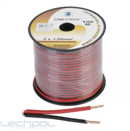 KAB0385 Speaker Cable 1.5mm zwart-rood