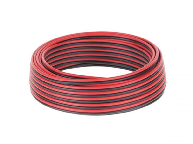 KAB0418 Speaker Cable CCA 0.75mm zwart-rood 25M
