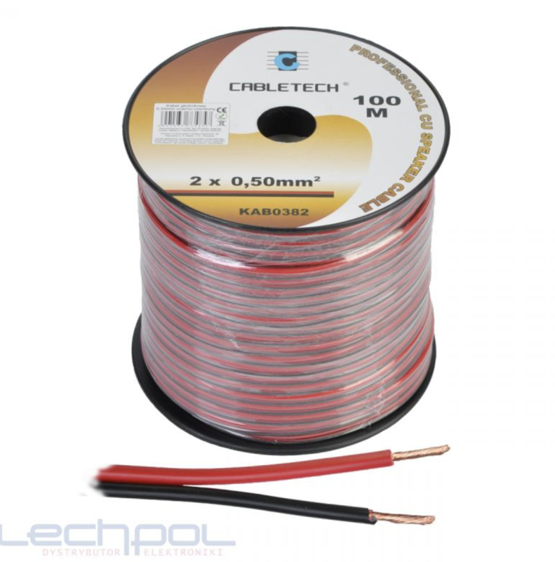 KAB0382 Speaker Cable 0.5mm zwart-rood