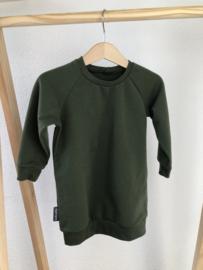 Sweaterdress kaki groen