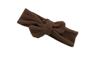 Haarband Rib bruin