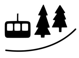 Bomen en kabelbaan stickers