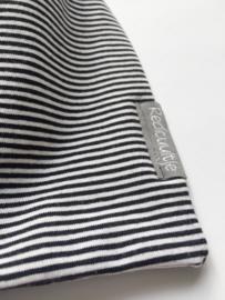 Sjaal zwart/wit gestreept